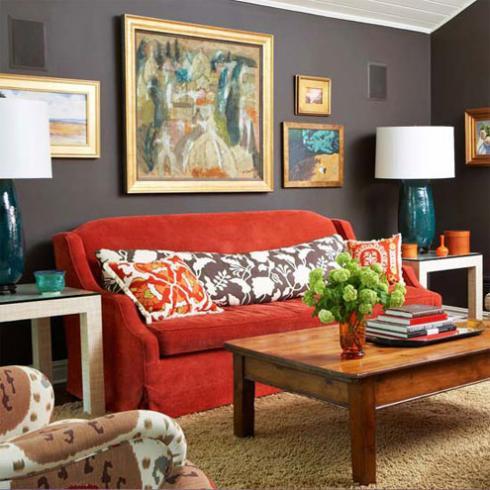 Những mẩu phòng khách đẹp rực rỡ